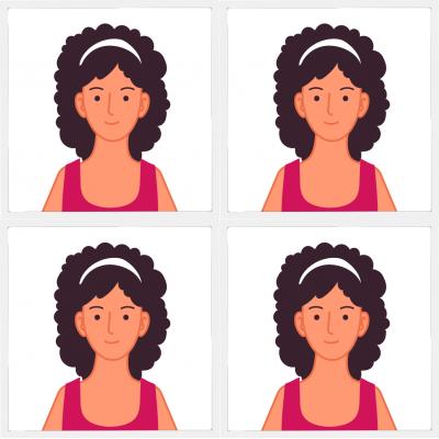 Pasfoto vrouw